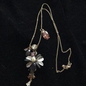 Ann Taylor Multi Crystal Pendent Necklace